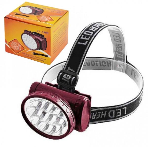 Акумулаторен прожектор челник фенер за глава 13 Led диода