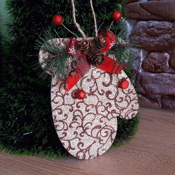 Декоративна ръкавица за окачване коледна украса за стена
