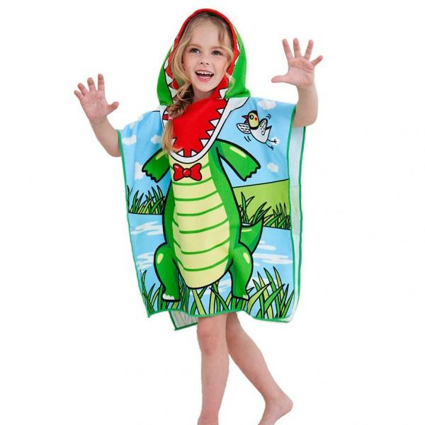 Детско плажно пончо Крокодил Русалка детски плажен халат хавлия пончо