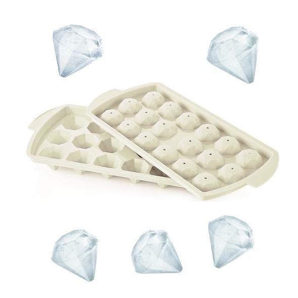 Пластмасова форма за лед с капак ДИАМАНТ, 18 гнезда форми за лед диамант