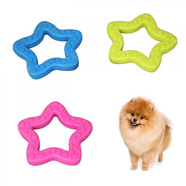 Гумена играчка за куче звезда играчка за дъвчене