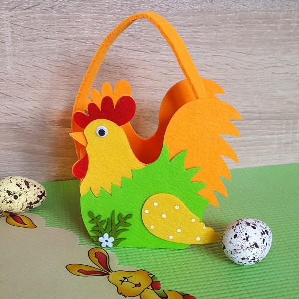 Великденска кошничка за яйца и лакомства Кокошка