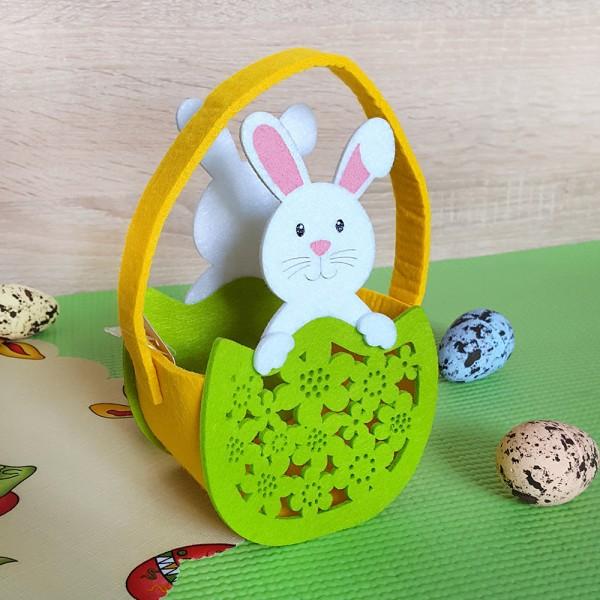 Великденска кошничка Зайче украса за Великден