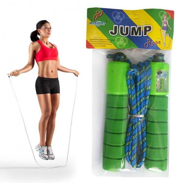 Въже за скачане с брояч и дунапренена дръжка 2.50м