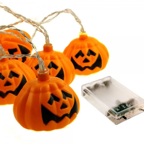 Halloween светещи лампички тиквени фенери Хелоуин гирлянд декорация
