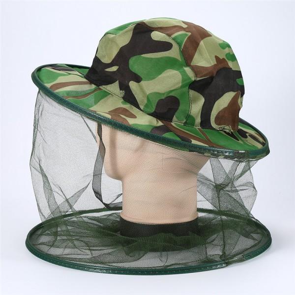 Шапка против комари камуфлажна рибарска шапка