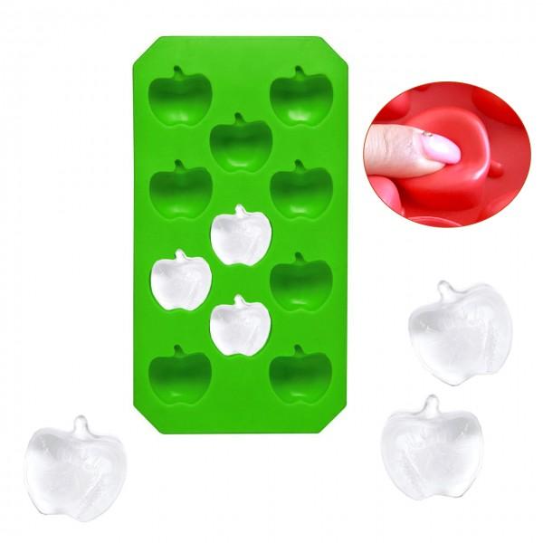 Силиконова форма за лед и бонбони ябълки 11 гнезда