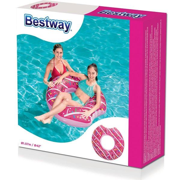 Голям надуваем пояс поничка донът 107см надуваеми играчки за море
