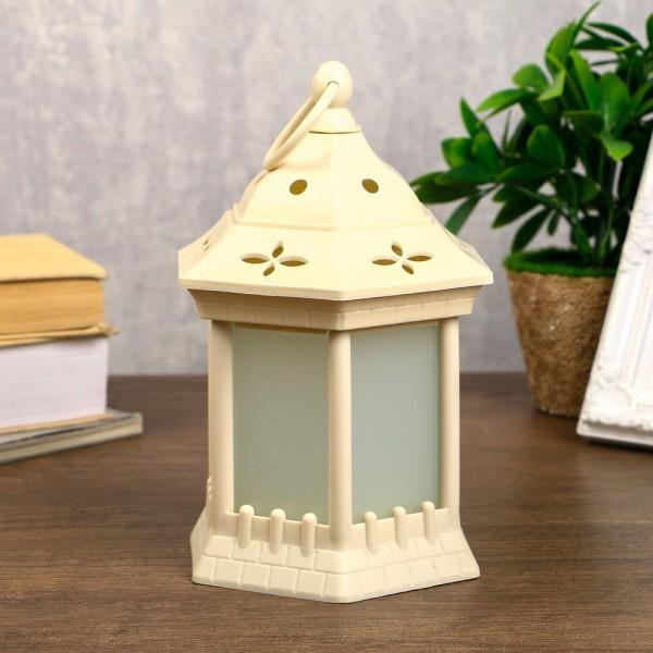 Декоративен Led фенер лампа с ефект на пламък 20x14cm