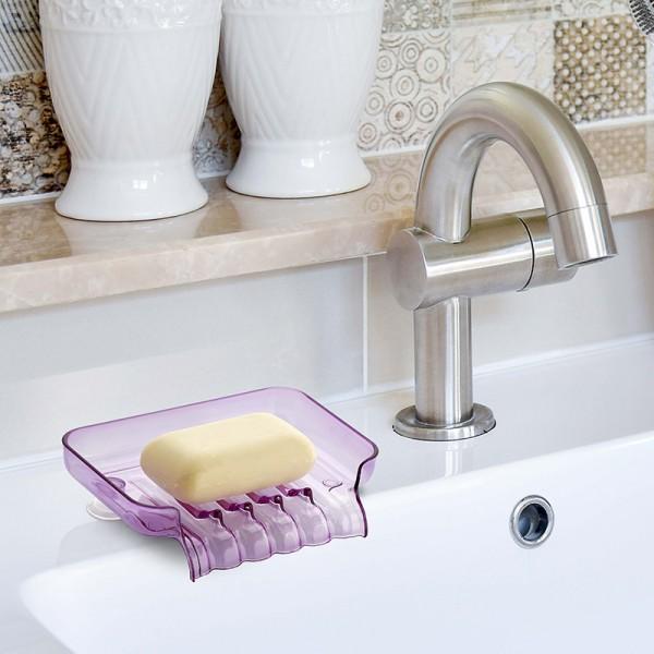 Поставка за гъба или сапун с отцеждане на водата сапунерка с вакуум
