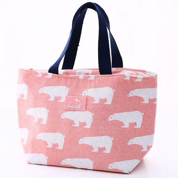 Термо чанта за храна и напитки Бели мечки