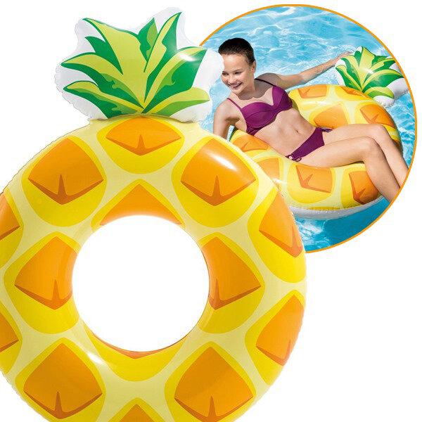 Голям надуваем пояс ананас 117см плажни играчки
