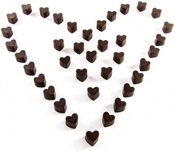 Силиконова форма за шоколадови бонбони и лед 56 мини сърца