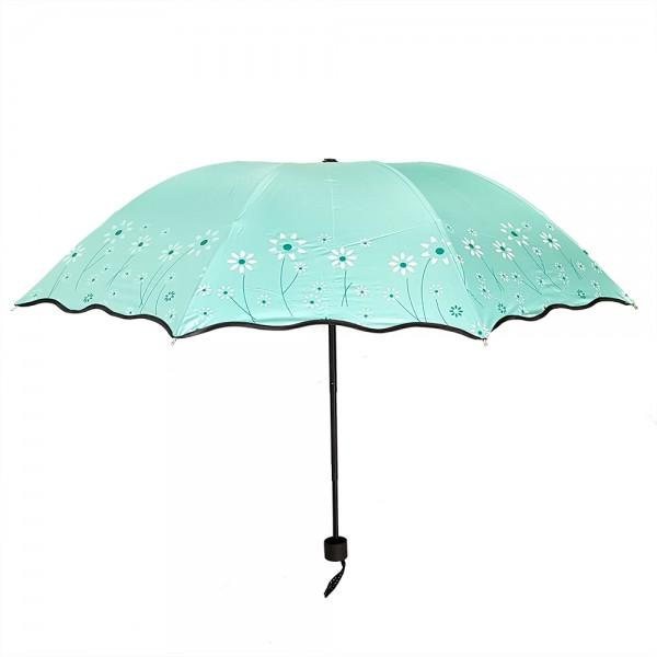 Тройно сгъваем чадър за дъжд на цветя