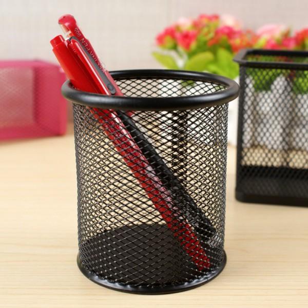 Метална поставка за химикали офис моливник за бюро органайзер кръгъл