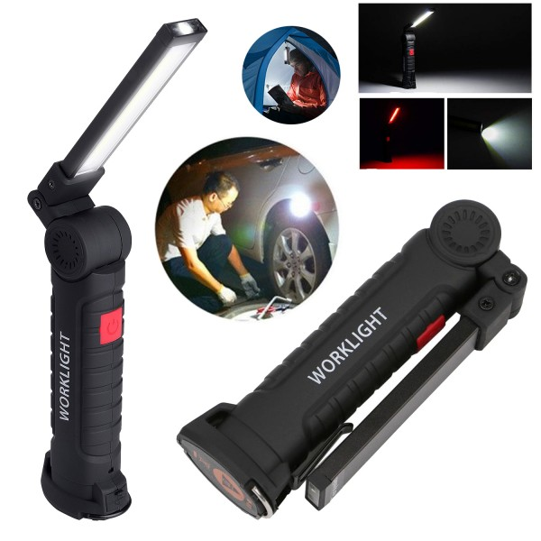 Сгъваем LED фенер с магнит работна лампа с чупеща глава USB зареждане