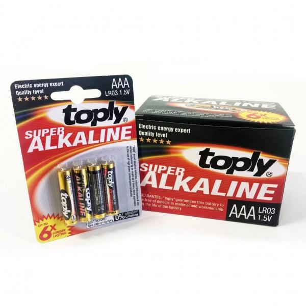 Алкални батерии ААА Toply 4 броя в комплект