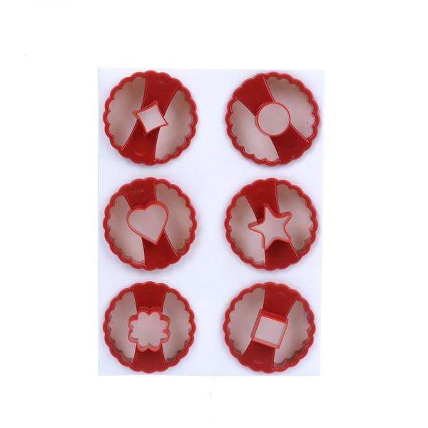 Комплект форми за линцер резци за сладки с дупка домашни бисквити
