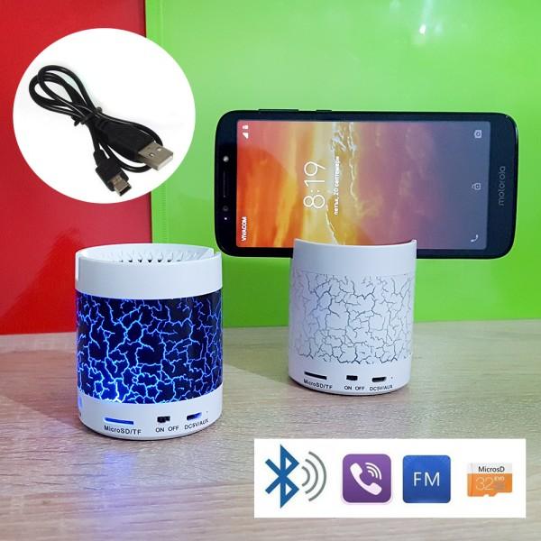 Светеща мини bluetooth колонка със стойка за телефон mp3 hands free