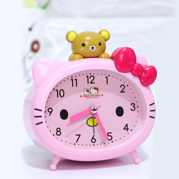 Детски будилник Hello Kitty настолен часовник с аларма и лампичка