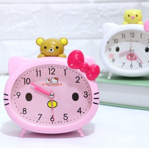 Детски будилник Hello Kitty настолен часовник с аларма и лампичка