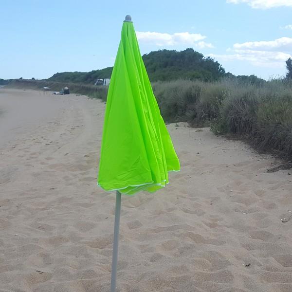 Голям плажен чадър с пречупване 200см диаметър регулираща височина