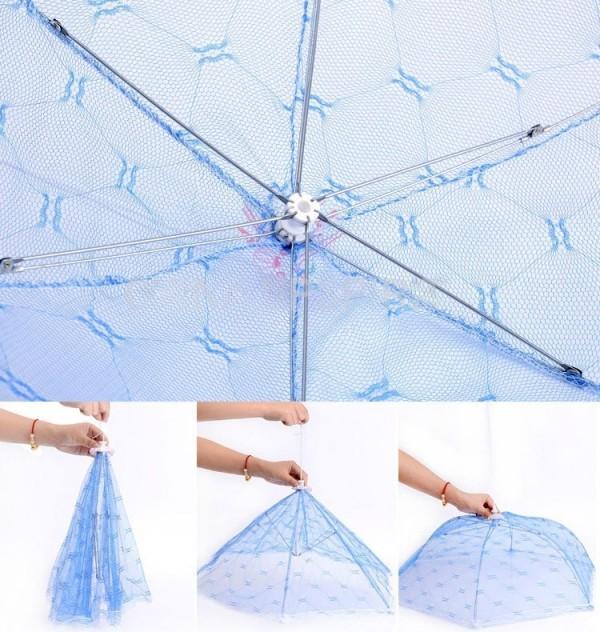 Чадър покривало за храна против насекоми сгъваема мрежа 3 размера