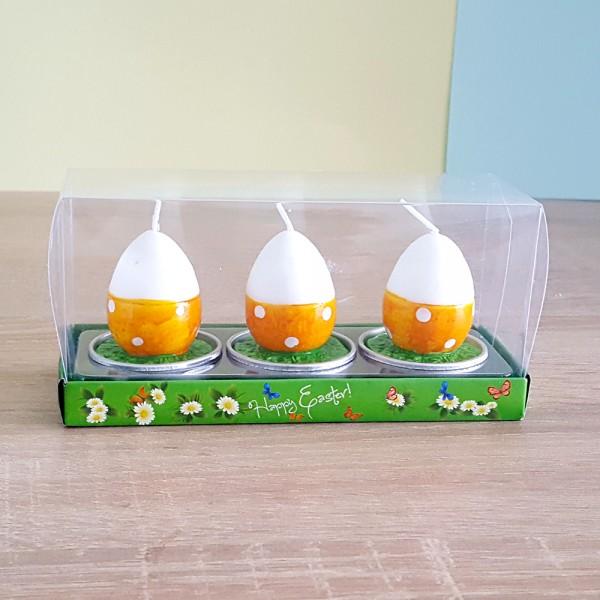 Чаени свещи великденски яйца комплект от 3 броя