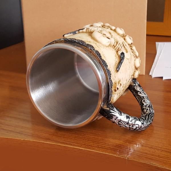 Чаша череп нестандартна халба за бира 400ml