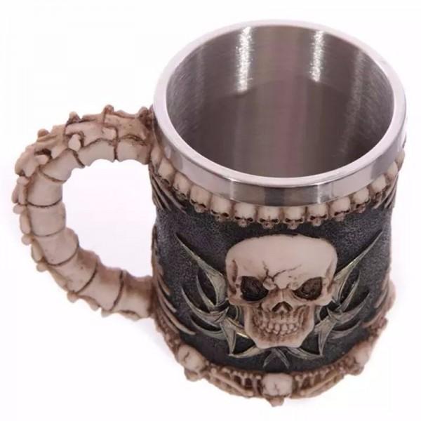 Масивна 3D чаша череп нестандартен подарък халба чаша за бира