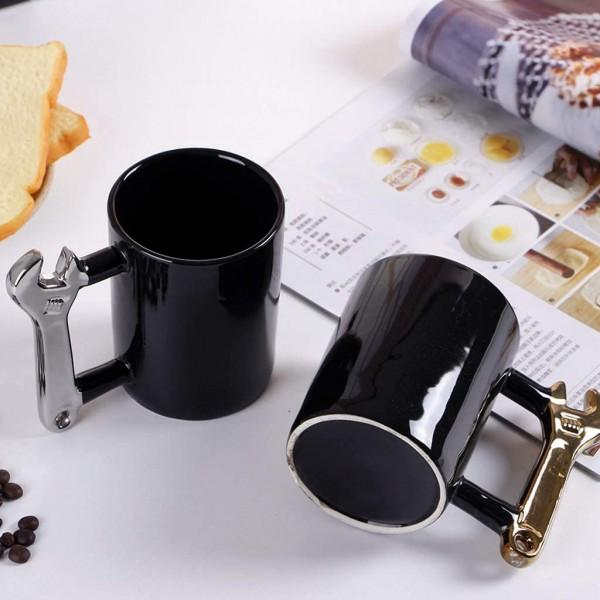 Керамична чаша Гаечен ключ подарък за майстори, 400ml