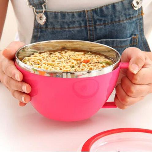 Голяма чаша за супа с вакуум капак и дръжка 500ml купа с дръжка