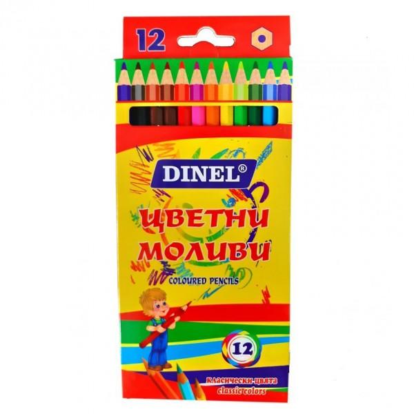 Цветни моливи за рисуване 12 цвята