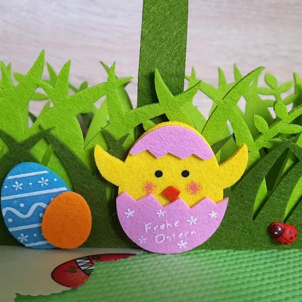 Великденска кошница с дръжка панер за великденски яйца и лакомства