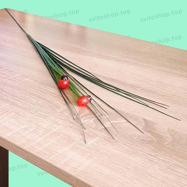 Дълга изкуствена тревичка с калинки за аранжиране и декорация 79см