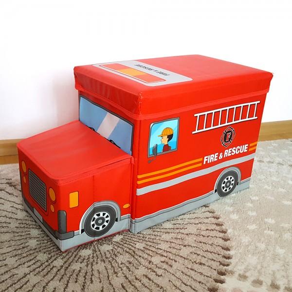 Детска сгъваема кутия за играчки кош столче табуретка автобус полиция