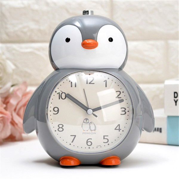 Детски будилник Пингвин настолен часовник с аларма и светлина