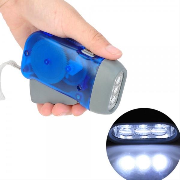 Джобен фенер с динамо фенерче 3 диода