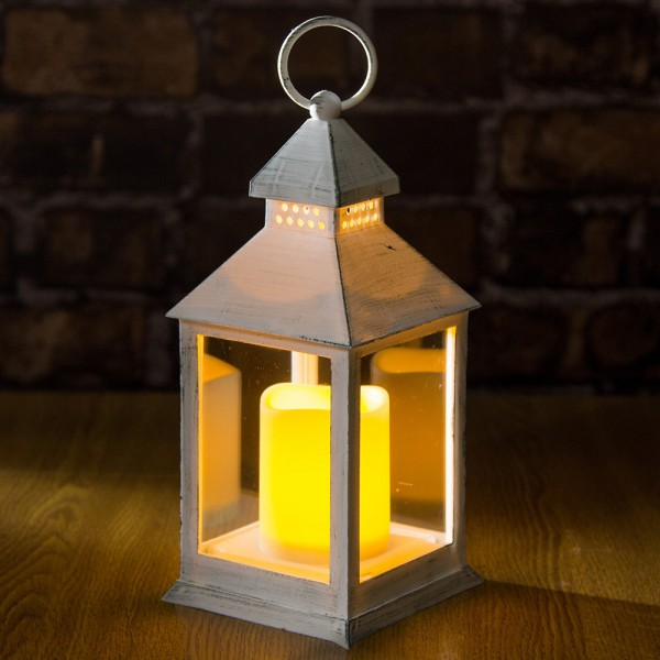 Декоративен фенер лампа с LED свещ 24см