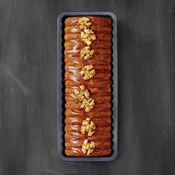 Малка правоъгълна форма за печене оребрена форма за кекс или хляб