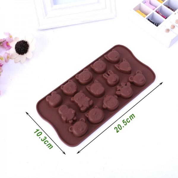 Силиконова форма за шоколадови бонбони и лед Животни