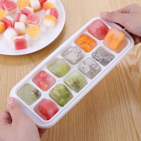 Форми за лед с капак формички за ледени кубчета с клапа за пълнене