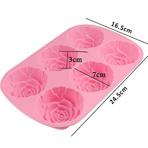 Силиконова форма за печене рози молд форма за мъфини роза