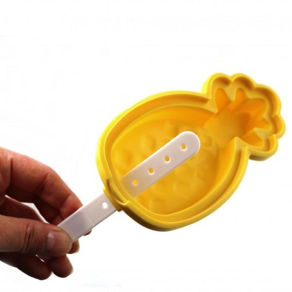 Силиконова форма за сладолед на клечка Ананас