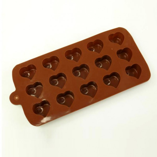 Силиконова форма за шоколадови бонбони сърца форми за лед сърца