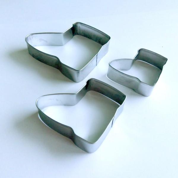 Метални форми за сладки коледни ботушчета комплект резци за тесто курабии