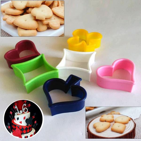 Формички за сладки Купа Спатия Каро Пика резци за фондан бисквитки
