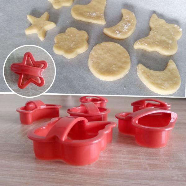 Форми за дребни сладки резци за тесто с дръжка 6 броя в комплект