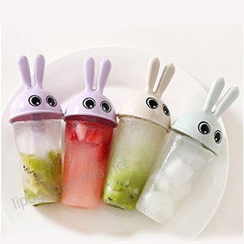 Комплект от 6 броя форми за сладолед Зайчета формички за ледени близалки