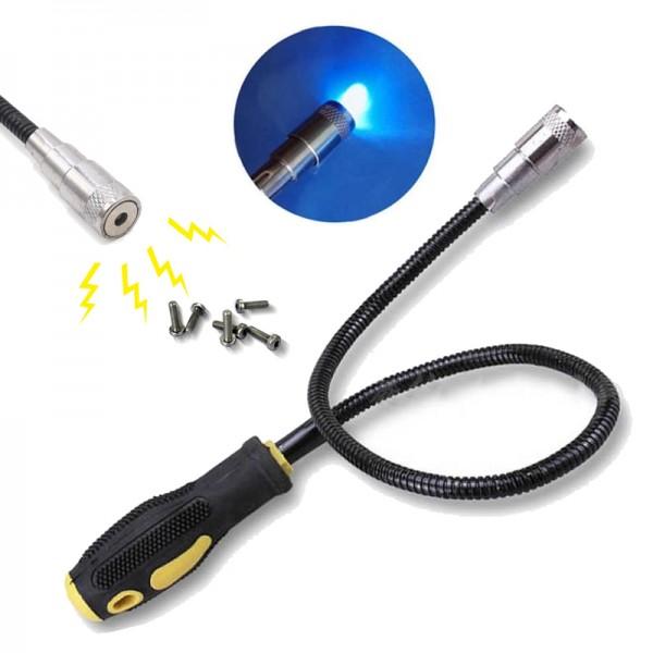 Гъвкав магнит с LED светлина магнитна пръчка хващач за изваждане на метални елементи
